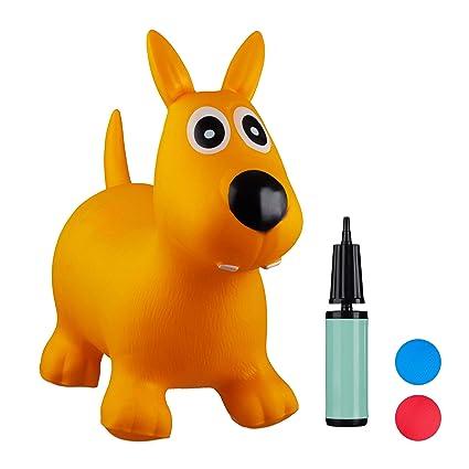 Relaxdays- Saltador Hinchable Perro para Niños hasta 50 Kg ...