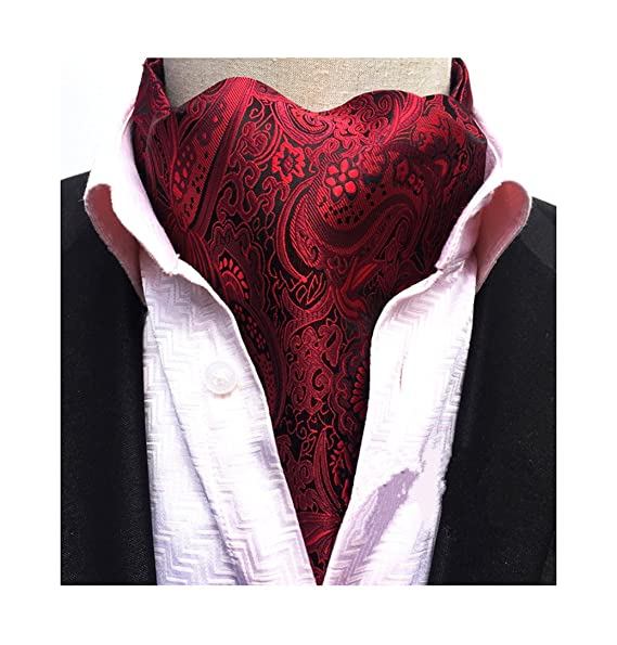 Victorian Mens Ties, Ascot, Cravat, Bow Tie, Necktie Secdtie Mens Paisley Floral Luxury Silk Cravat Self Ties Jacquard Woven Ascot $10.99 AT vintagedancer.com
