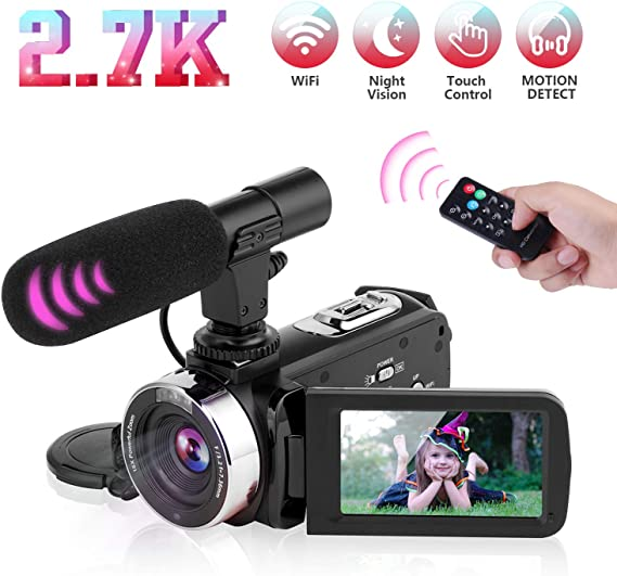 Video Camera Camcorder Digital Vlogging Camera Video Recorder for YouTube with Microphone 3.0