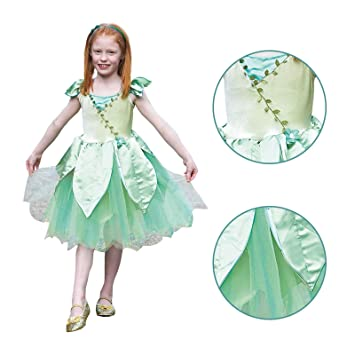 9cf3aca4362 Girls Deluxe Forest Fairy Tale Neverland Woodland Nymph Jewelled Leaf  Detail Childs Fancy Dress Party Book Week Costume 3 -5 Years