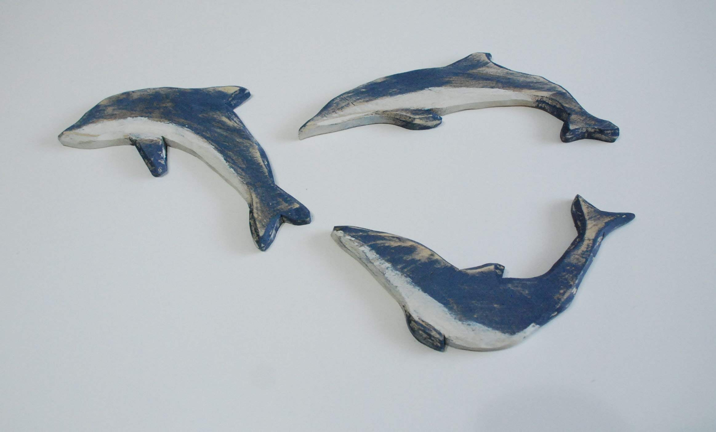 Wood Dolphins Set, Dolphin Wall Art, Dolphin Picture, Sealife, Dolphin Decor, Wood Dolphins