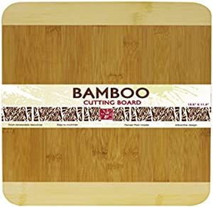 Home Basics Cutting Board, Bamboo, 13.5 by 11.5-Inch