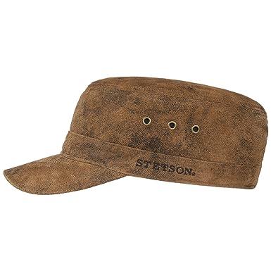 7bb2afe9841bb8 Stetson Raymore Pigskin Armycap   Military Urban Cap Herren/Damen    Sommercap aus Leder