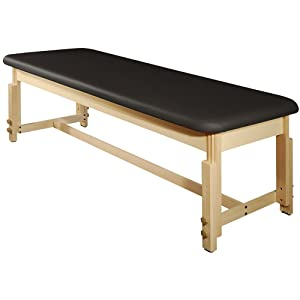 MT Harvey Treatment Stationary Massage Table for Clinic,Massage and Acupuncture(Black)