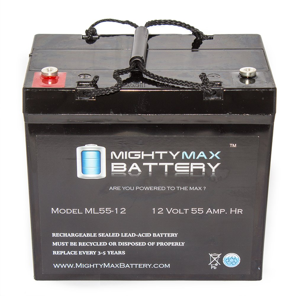 12V 55AH Internal Thread Battery for WKDC12-55P - Mighty Max Battery brand product