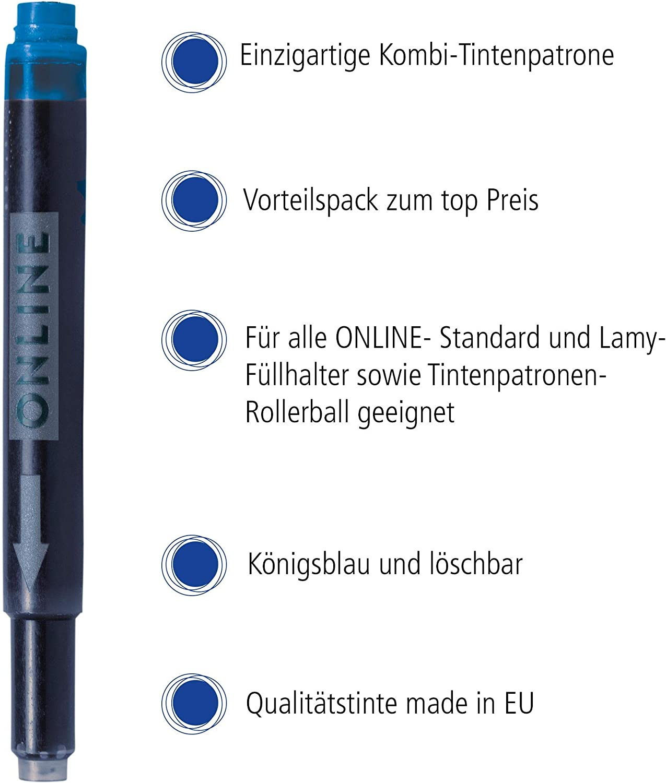 80 Universalpatronen Tintenpatrone geeignet f Lamy Pelikan Online Füllerpatrone