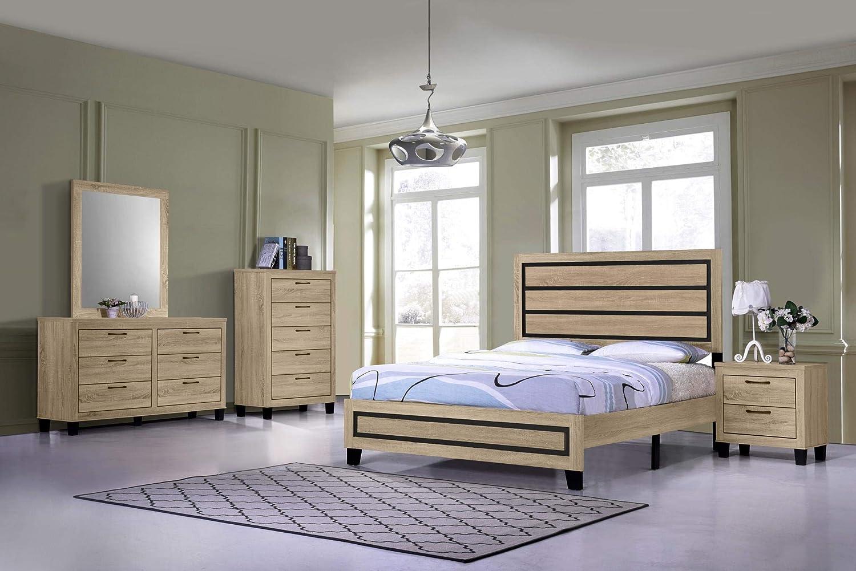 Amazon.com: GTU Furniture Classic Minimalist Style Bedroom ...