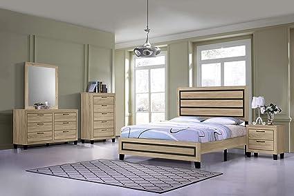 Amazon.com: GTU Furniture Classic Minimalist Style Bedroom Set (Full ...