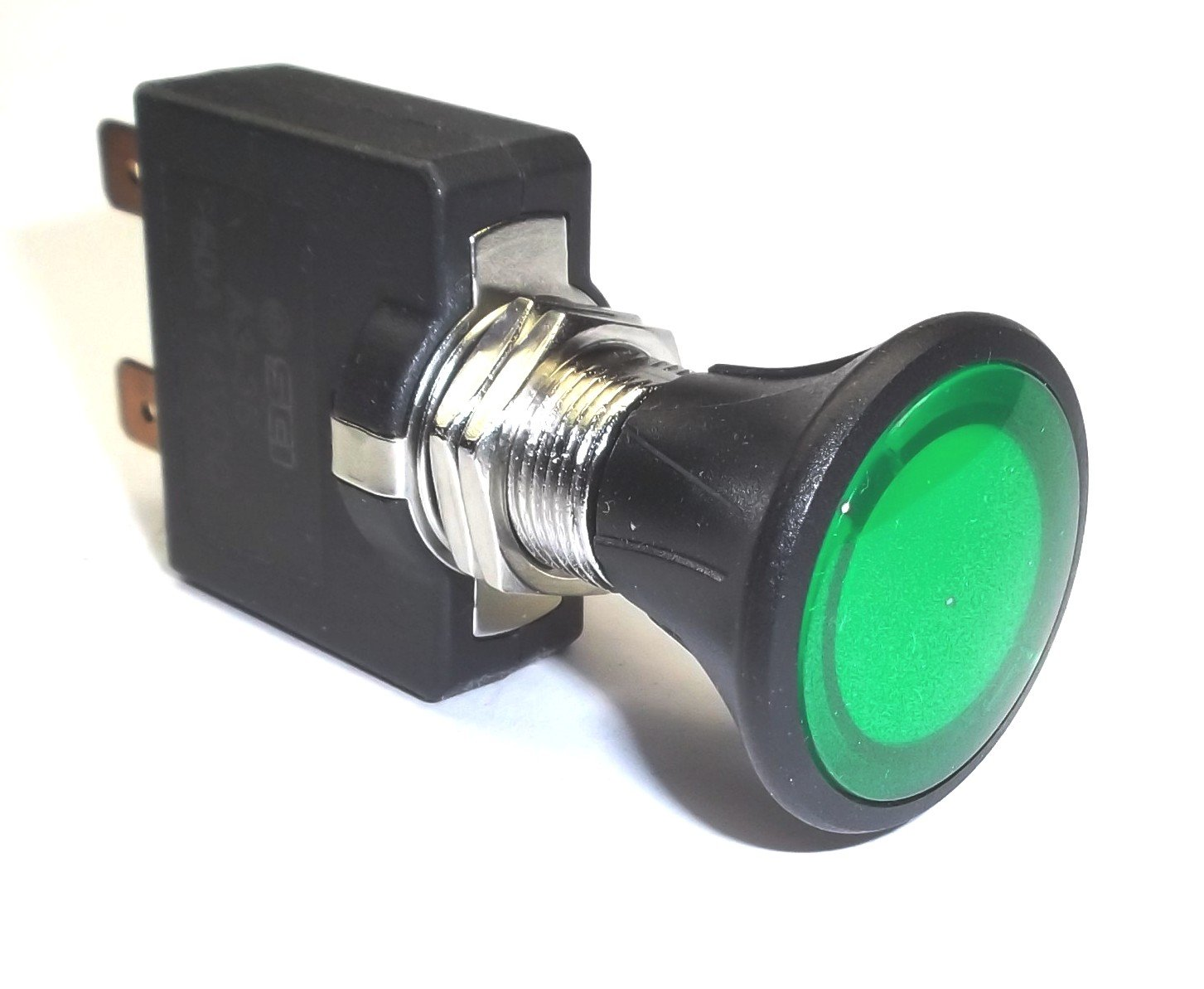 Fastronix Push Pull Switch With Green Led Indicator Home Cole Hersee Toggle Spst On Off W Wire Leads Automotive