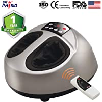 Dr Physio (USA) Electric Powerful Shiatsu Foot Massager Machine for Pain Relief with Vibration