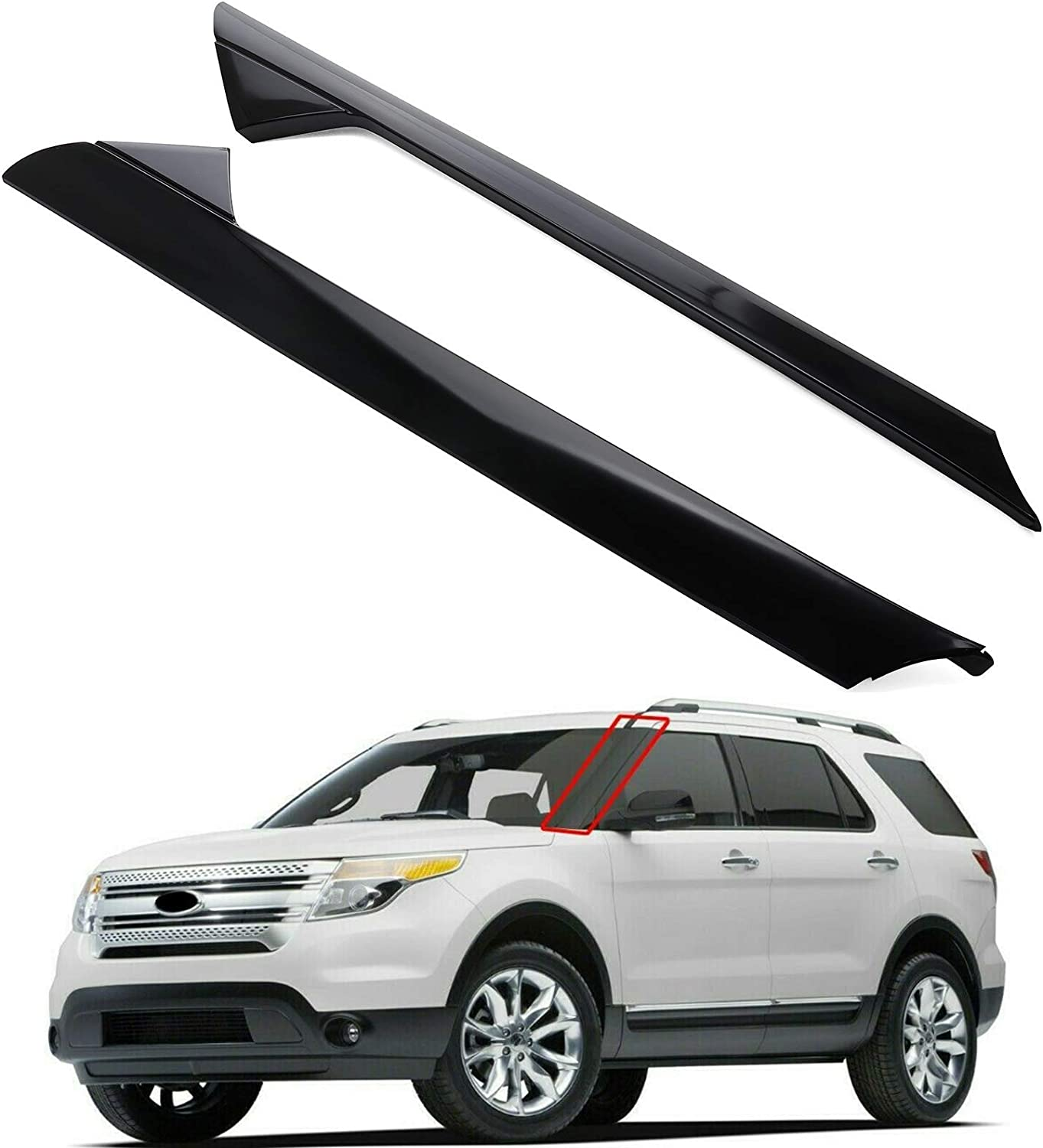 MotorFansClub Left Right One Pair Molding fit Front Selling San Diego Mall f Windshield