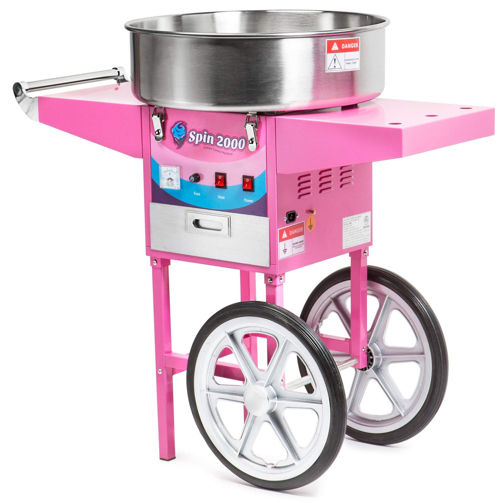 Olde Midway Commercial Quality Cotton Candy Machine Cart and Electric Candy Floss Maker - SPIN 2000 (Renewed) by Olde Midway (Image #2)