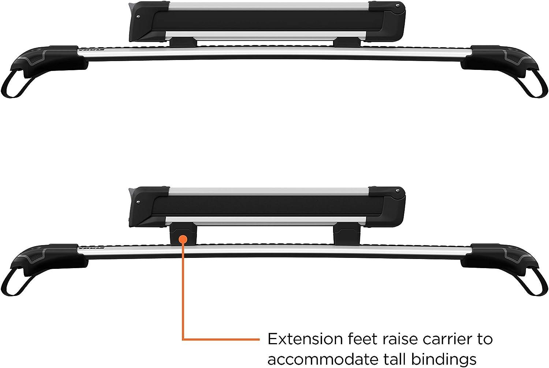 Thule Ausrüstung 4 Paar Ski 2 Snowboards Carrier Unisex 7324 Silber Einheitsgröße Sport Freizeit