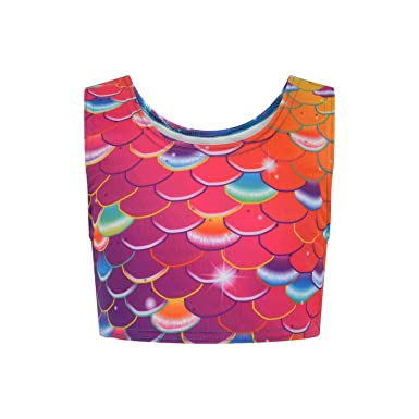 16d49cd31a0cc2 Coral Carnival Mermaid Crop Top  Amazon.co.uk  Clothing