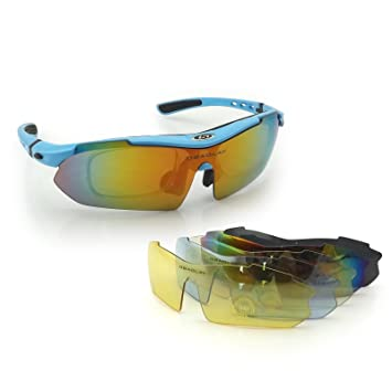 3f73f00a13 OBAOLAY Cycling Sports Sunglasses Multi Sport Glasses Exchangeable 5 Lenses  Unbreakable Polarized UV400  Amazon.co.uk  Sports   Outdoors