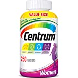 Centrum Multivitamin for Women, Multivitamin/Multimineral Supplement with Iron, Vitamins D3, B and Antioxidants - 250…