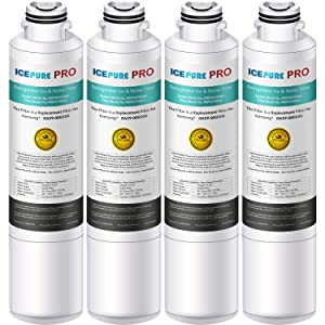 ICEPURE PRO NSF 53&42 Certified DA29-00020B Refrigerator Water Filter, Compatible with Samsung DA29-00020B, DA29-00020A, HAF-CIN/EXP, HAF-CIN, DA97-08006A, Kenmore 469101 [Pack of 4]