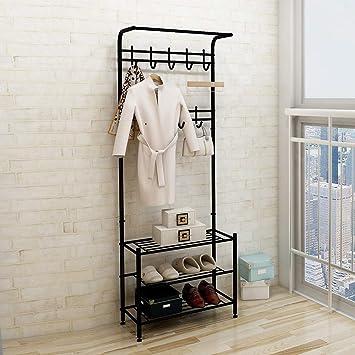 Amazon.com: Perchero de metal para ropa con bandeja de ...