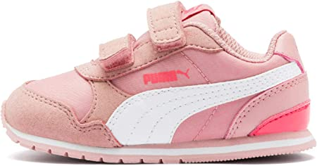 PUMA ST Runner v2 NL V Inf Kinder Low Boot Sneaker Bridal Rosa-Weiss-Calypso Coral