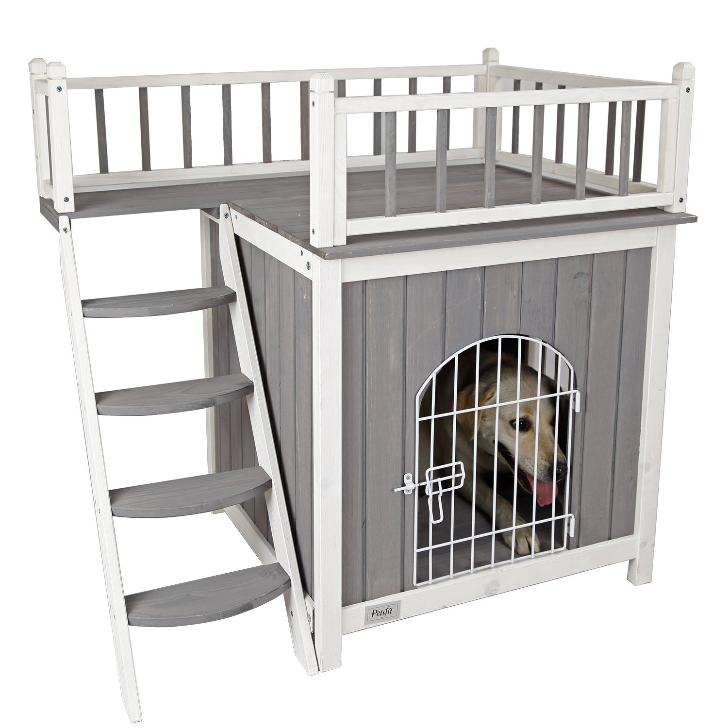Petsfit 36''LX25''WX34''H Cat House For Indoor Use,Dog House,Wooden Indoor Dog House Cat Condo