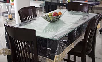 Buy Rajri DecorTM Dining Table Cover 6 Seater Transparent 6090