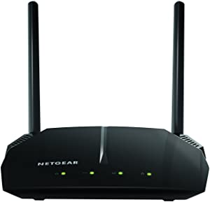 NETGEAR WiFi Router (R6120) - AC1200 Dual Band Wireless Speed (up to 1200 Mbps) | Up to 1200 sq ft Coverage & 20 Devices | 4 x 10/100 Fast Ethernet and 1 x 2.0 USB ports