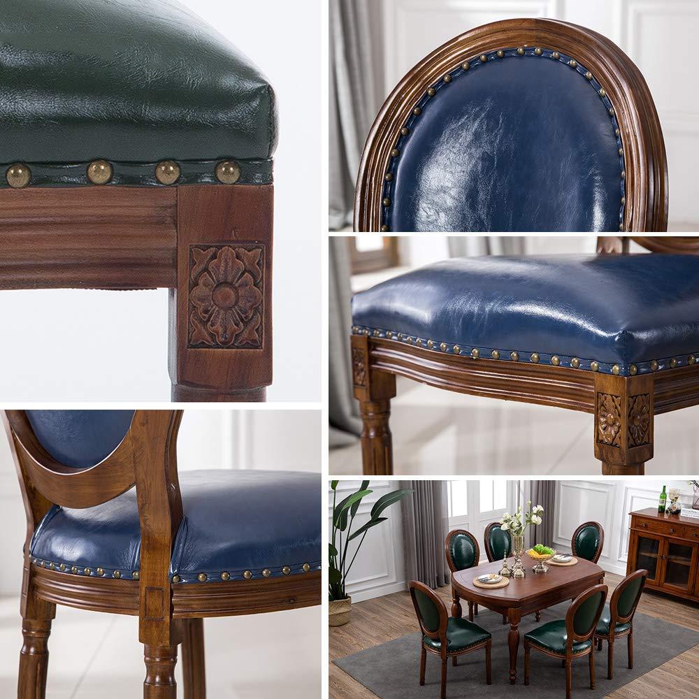 Matstolar soffa stol nordisk massivt trä enkel modern kaffestol retro stil balkong vardagsrum stol modern middag, hög rygg vadderad mjuk sittplats, A c