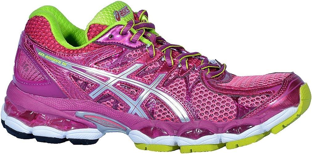 Asics - Zapatillas de Running de Material Sintético para Mujer Rosa Rosa: Amazon.es: Zapatos y complementos