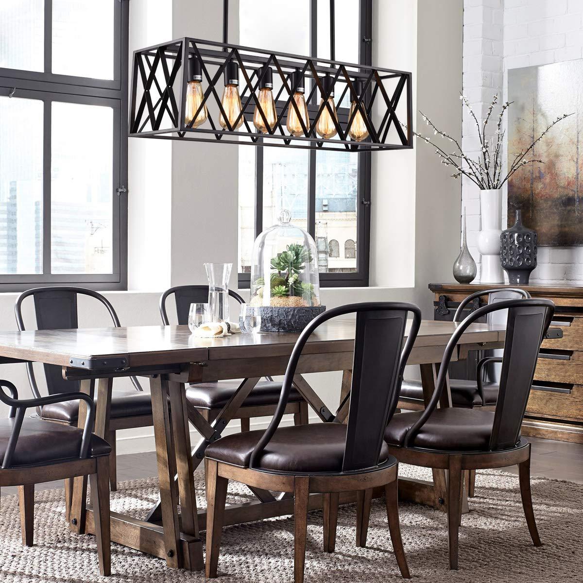 Amazon.com: Mirrea - Lámpara de techo con marco rectangular ...