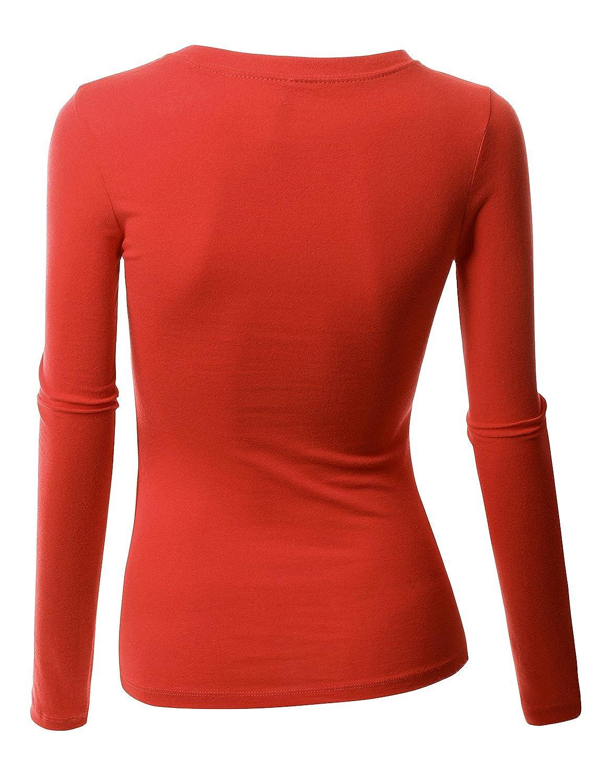 10a3977c2a479e Amazon.com  Doublju Womens 3 4 Sleeve Band Sweater RUST Designers Shirts