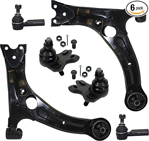 For FWD 2003-2008 Matrix Vibe 12pc Front Lower Control Arms Tie Rods Sway Bars