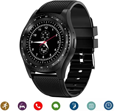 CanMixs Relojes Inteligentes Smart Watch Bluetooth CM08 Tarjeta SIM TF con notificación de cámara Sincronización Reloj Deportivo Compatible con iPhone Android iOS Teléfonos Samsung LG (Negro): Amazon.es: Electrónica
