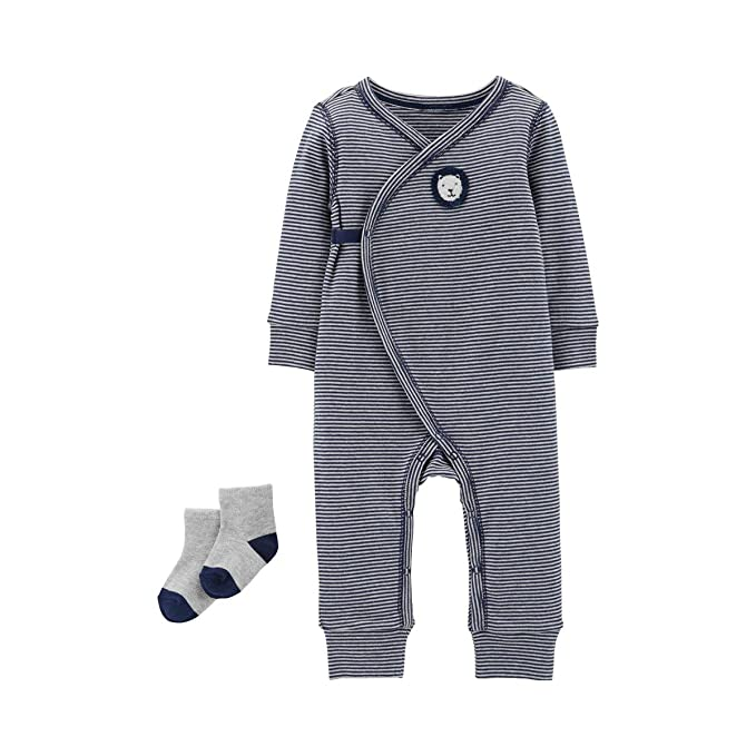 db832f7af Amazon.com  Carter s Baby Boys  2-Piece Jumpsuit   Sock Set  Clothing