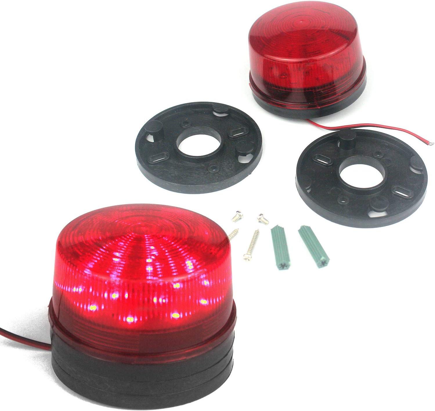 Wasserdicht 24V DC Sicherheit Blinkende LED Blitzleuchte Notruf-Warnblinkanlage Hohe Helligkeit Taikuwu Warnblinkanlage Warnleuchte Warnblinkanlage Warnleuchte 12