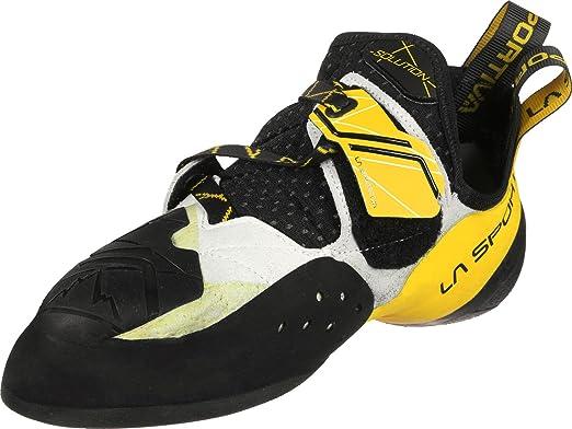 La Sportiva Solution White/Yellow, Zapatillas de escalada Hombre