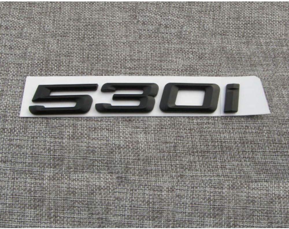 SBCX Para BMW 5 Series 530i Negro Mate ABS n/úmeros Letras Palabra Coche Maletero Insignia Emblema Letra calcoman/ía Pegatina