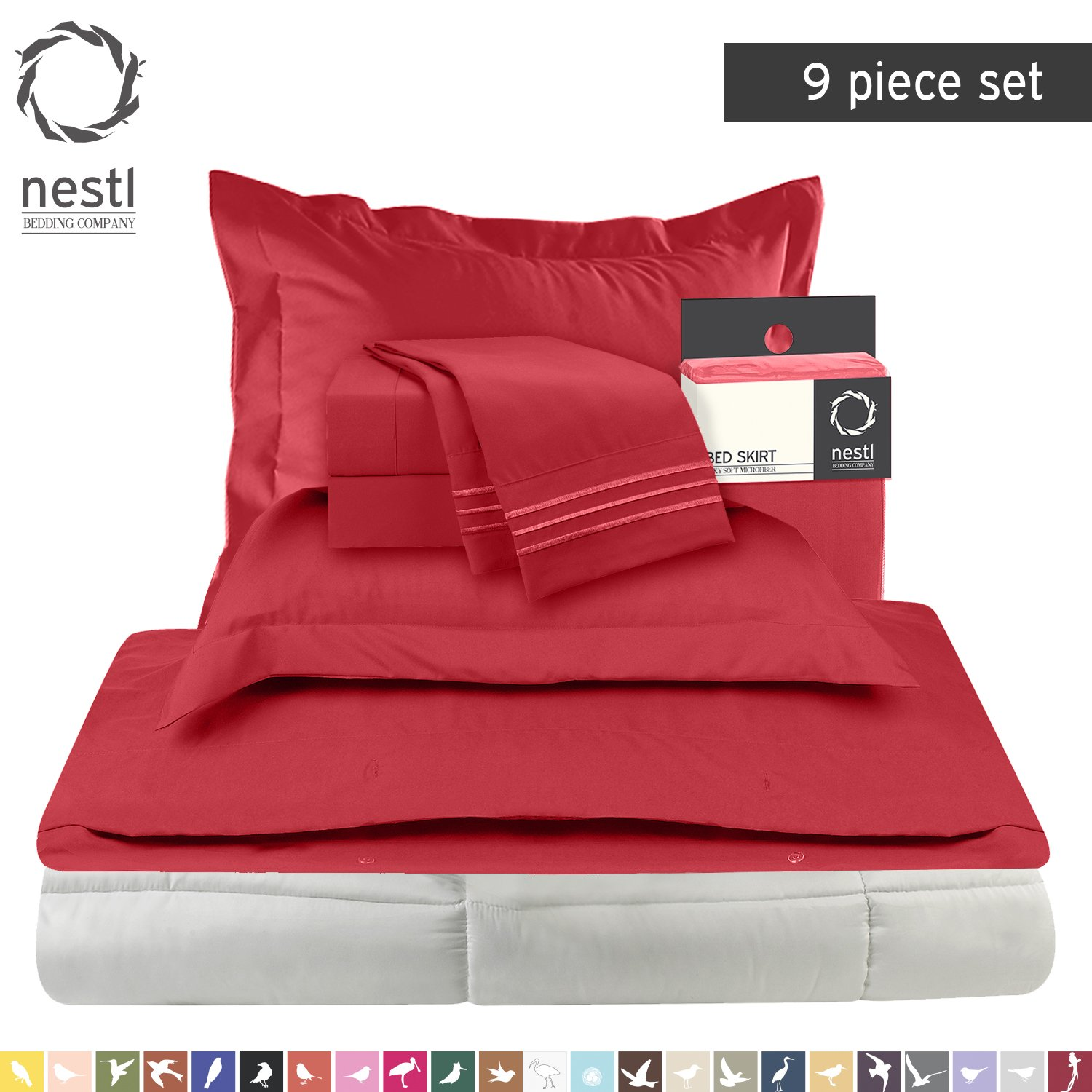 Bed-In-A-Bag 9 Piece Complete Bed Sheet Set