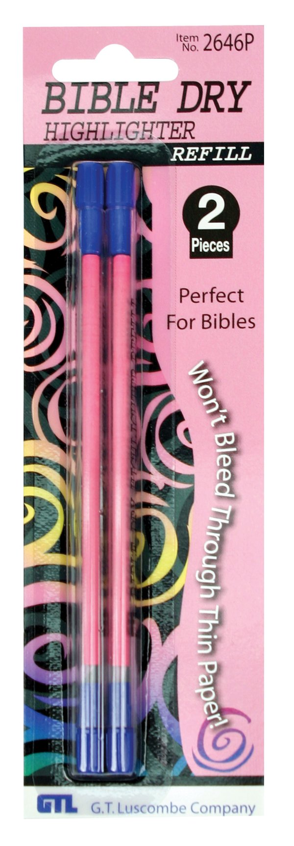 Bible Highlighter Refills Pink Carded
