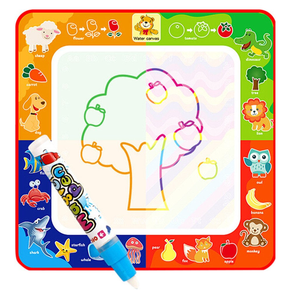 LiPing Children Education Magic Water Painting Board Magic Graffiti Color Painting Toys Art Set for Kids Perfect Travel Activity or Gift for Girls or Boys! (11.4in)