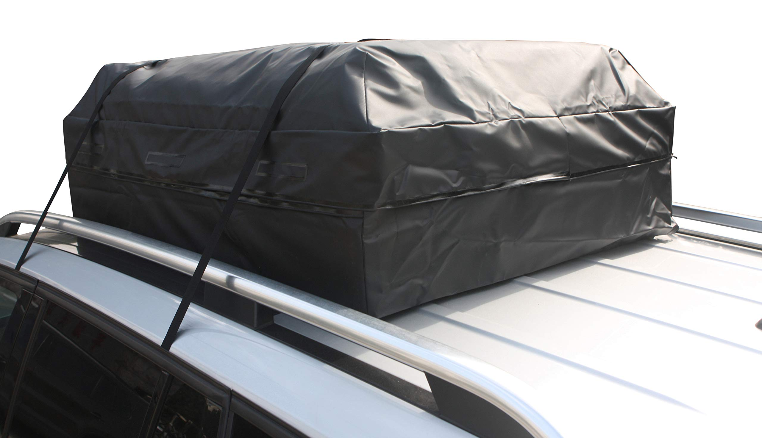 Perfection Updated Car Roof Bag Luggage Carrier Cargo Storage Roofbag for Cars w/o Racks, Attached Non-Slip Mat, Extra Rooftop Padding, Enhanced Safety Buckle by Perfection (Image #9)