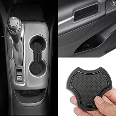 Auovo Anti dust Mats for Chevrolet Chevy Equinox 2020 2020 2020 Interior Accessories Custom Fit Door Pocket Liners Cup Holder Pads Console Mats(14pcs/Set) (Black): Automotive
