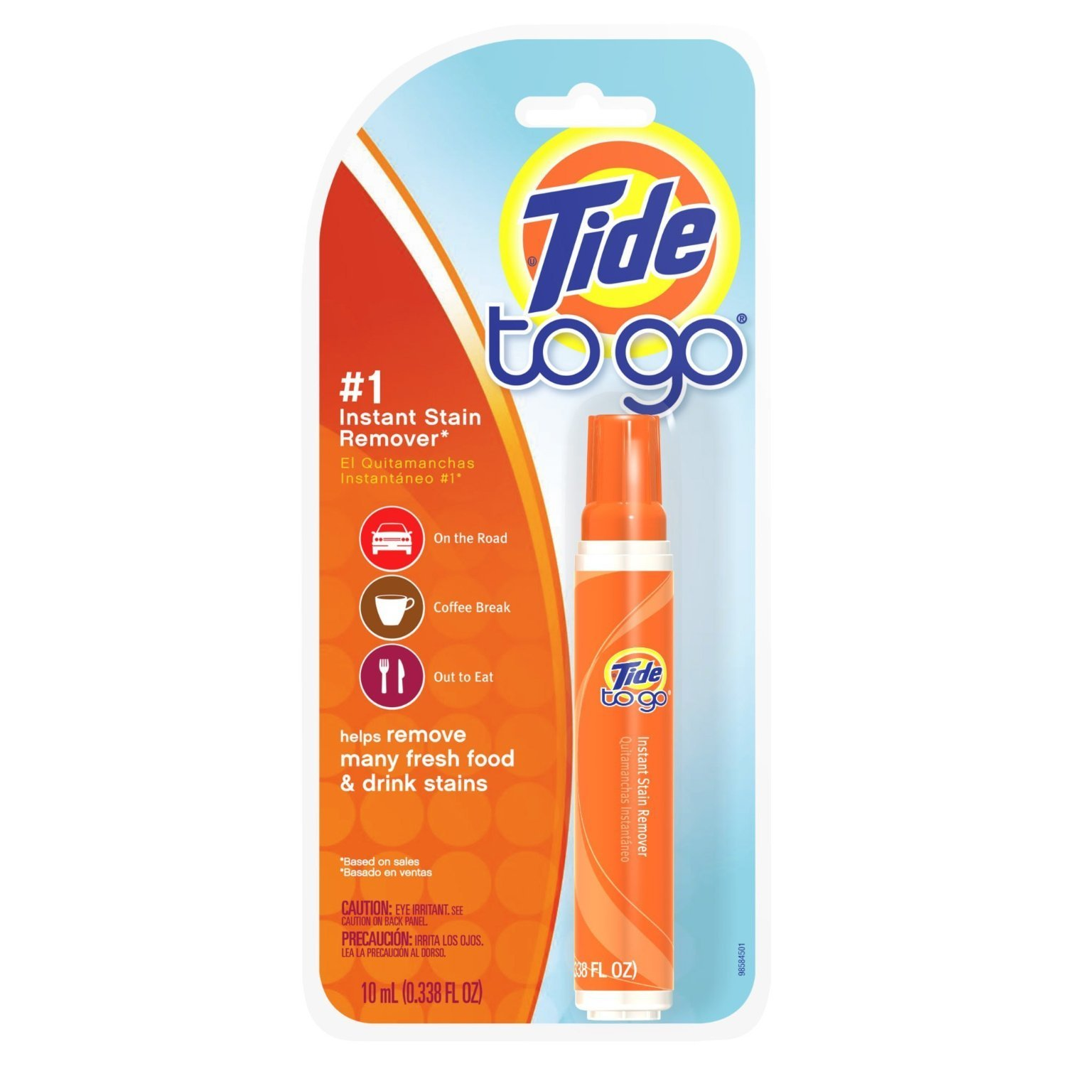 Amazon.com: Tide To Go Instant Stain Remover Liquid 1 Count (Pack of 9): Health & Personal Care