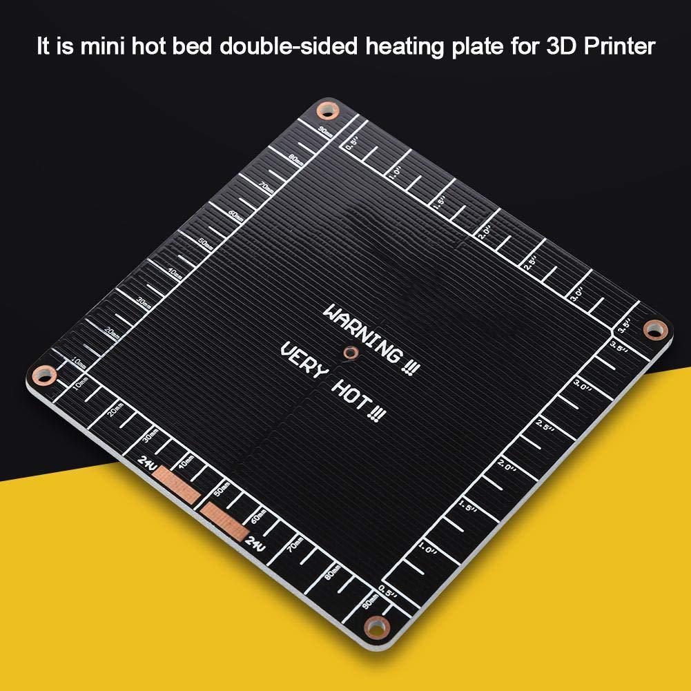Amazon.com: Mini Hot Bed for 3D Printers, 100 x 100 x 2mm ...