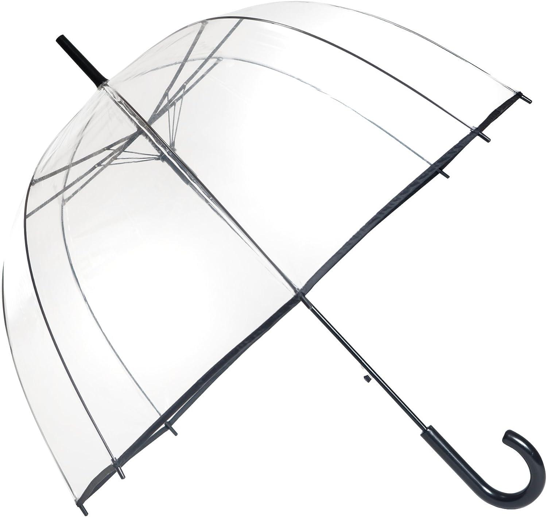 Blanc Ouverture Automatique SMATI Parapluie Femme//Dome Transparent Cerises