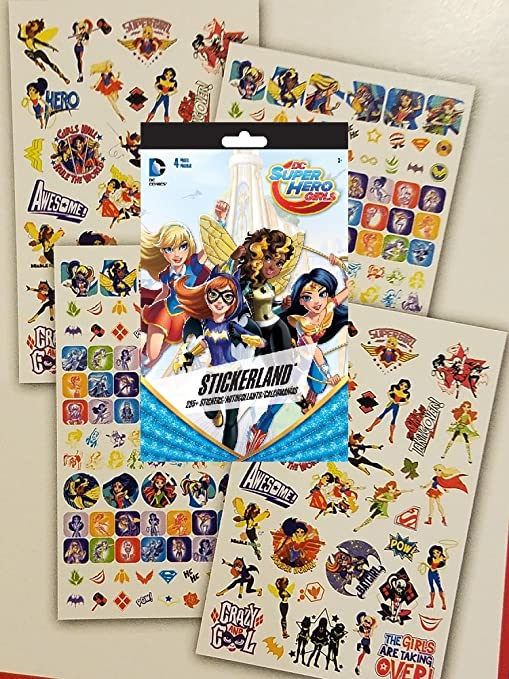 Super Hero Girl Kids Party Themed Sticker Sheets Loot Bag Fillers Favours Prizes
