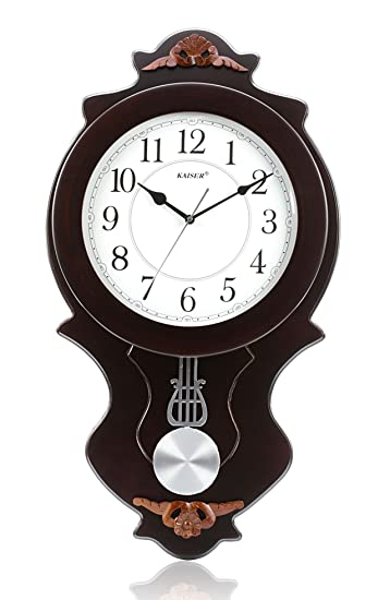 Buy Kaiser Wooden Wall Clock With Pendulum 640x360x80 mm Cola