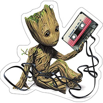 Guardians Of The Galaxy, BABY GROOT WITH CASSETTE, Officially Licensed - Air Freshener