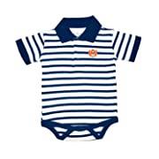 Auburn Tigers NCAA College Newborn Infant Baby Striped Polo Creeper (0-3 Months)