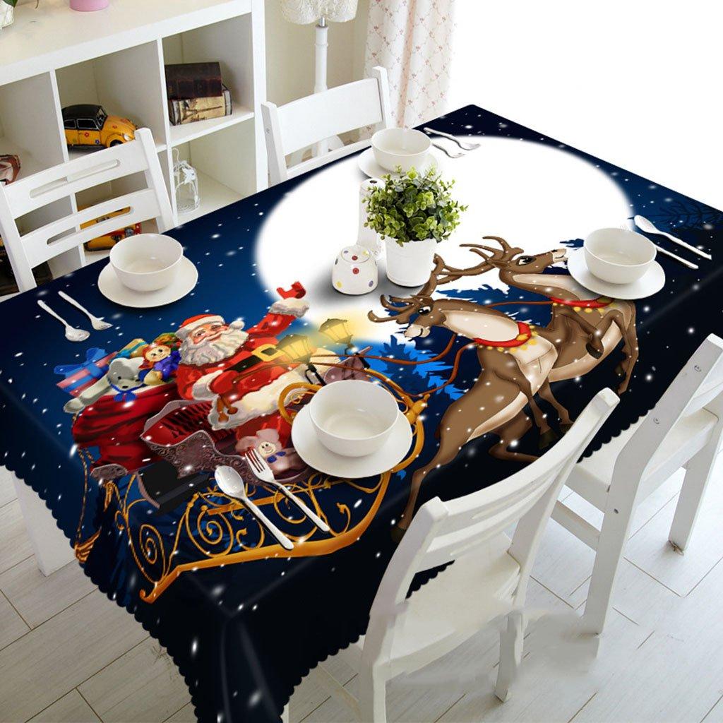 Küchenwäsche Tischdecke 3D Rechteckige Tischdecke Matte - Umweltfreundlich und Unscented - Digital gedruckt wasserdicht ME88 (größe   Rectangular -228cmx396cm)  Rectangular -134cmx183cm