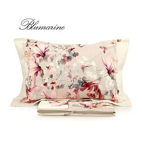 Blumarine Biancheria Da Letto.Blumarine Completo Lenzuola Magnolia Matrimoniale Stampa Fiori